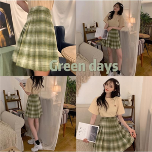 """MATCHA TEA"" SKIRT"
