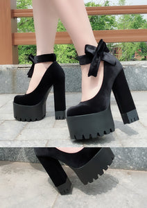 DOLLY BOW PLATFORM SHOES (2 COLORS)