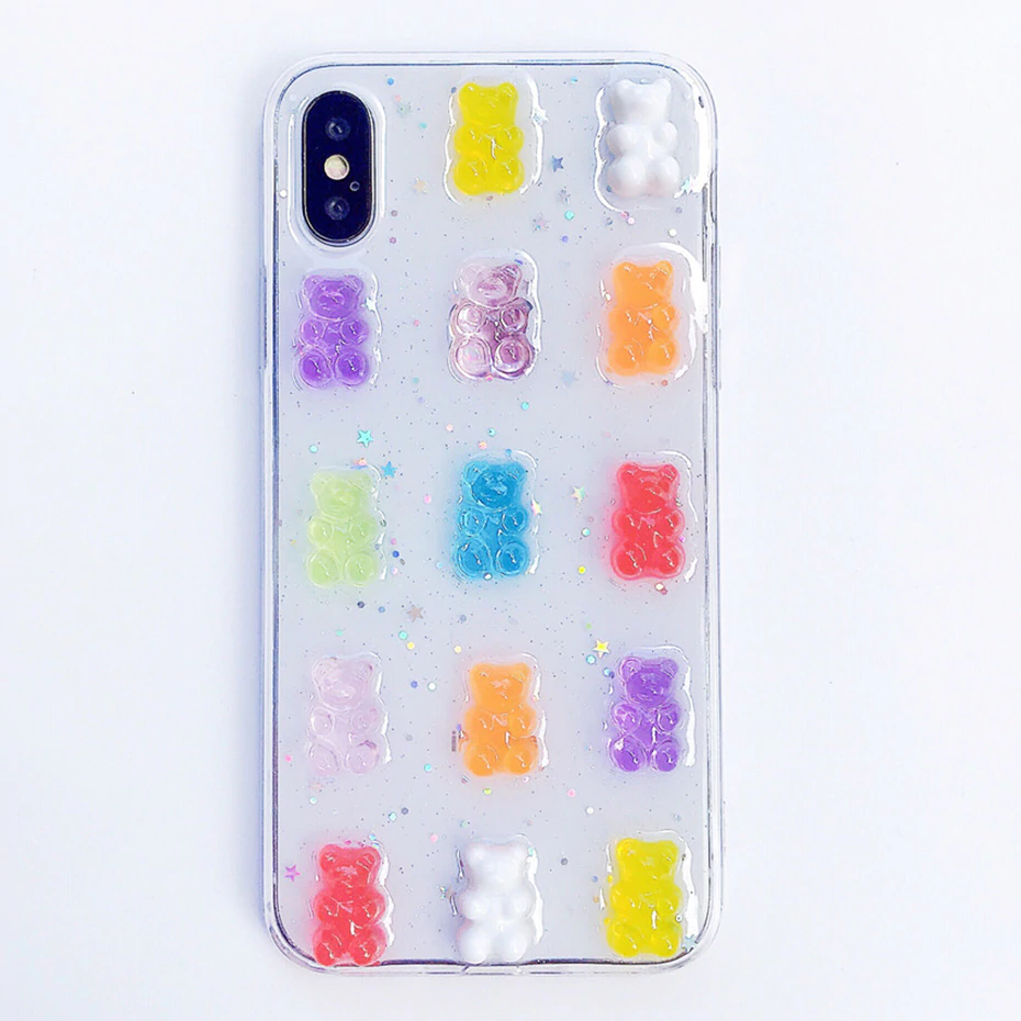 PASTEL GUMMY BEAR IPHONE CASE