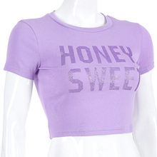 "Load image into Gallery viewer, ""HONEY SWEET"" CROP TOP"