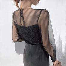"Load image into Gallery viewer, MESH ""MOONLIGHT"" BLOUSE (2 COLORS)"