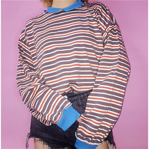 """STRIPED DAY"" SWEATER (2 COLORS)"