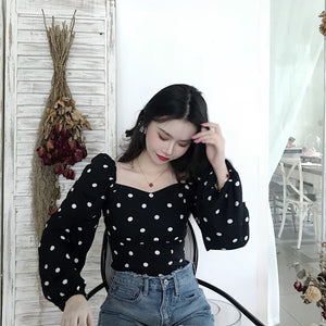 """NIGHT"" POLKA DOT BLOUSE"
