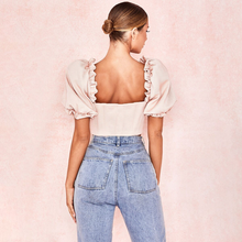 "Load image into Gallery viewer, ""PETAL PICNIC"" CROP TOP"
