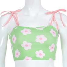 "Load image into Gallery viewer, ""SUMMER DAISY"" CROP TOP"