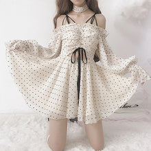 "Load image into Gallery viewer, ""POLKA DOT VINTAGE DOLL"" DRESS"