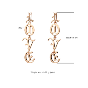 """LOVE"" GOTHIC EARRINGS (2 COLORS)"