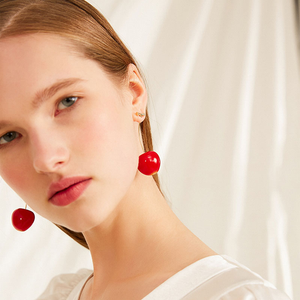 """DARLING CHERRY"" EARRINGS"