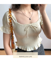 "Load image into Gallery viewer, ""MALA"" CROP TOP"