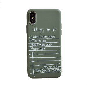 """SELF CARE / THINGS TO DO"" IPHONE CASE"