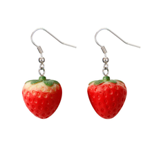 "Load image into Gallery viewer, ""STRAWBERRY BABY"" EARRINGS"
