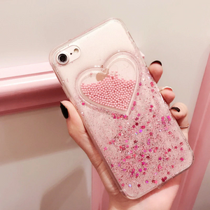 """GLITTER HEARTS"" IPHONE CASE (2 COLORS)"