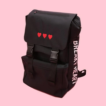 "Load image into Gallery viewer, ""BREAKY HEART"" BACKPACK (2 COLORS)"