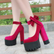Load image into Gallery viewer, DOLLY BOW PLATFORM SHOES (2 COLORS)
