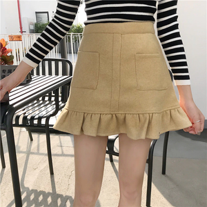 RUFFLE SCALLOP SKIRT (4 COLORS)