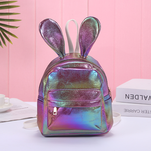 """GLITTER BUNNY"" BACKPACK (4 COLORS)"