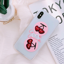 "Load image into Gallery viewer, ""LOVE YOU / AWESOME"" CHERRY IPHONE CASE"