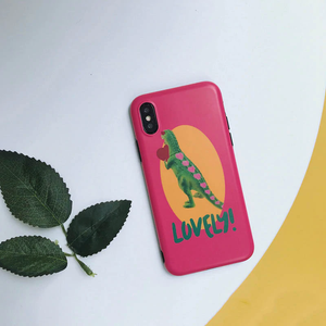 """LOVELY DINOSAUR"" IPHONE CASE"