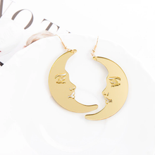 "Load image into Gallery viewer, ""MR. MOON"" EARRINGS"