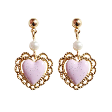"Load image into Gallery viewer, ""ANGEL'S HEART"" EARRINGS"