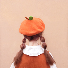 "Load image into Gallery viewer, ""ORANGE CHARLOTTE"" BERET"