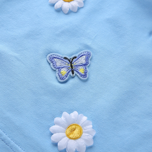 """DAISIES 'N' BUTTERFLIES"" CROP TOP"