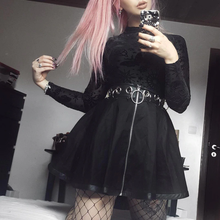"Load image into Gallery viewer, ""BLACK WITCH"" SKIRT"