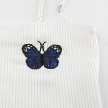 "Load image into Gallery viewer, ""BUTTERFLY GIRL"" CROP TOP"