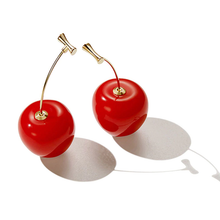 "Load image into Gallery viewer, ""DARLING CHERRY"" EARRINGS"