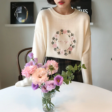 "Load image into Gallery viewer, ""FLORAL LOVE"" SWEATER (2 COLORS)"