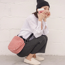 "Load image into Gallery viewer, ""VACATION"" GINGHAM BAG (2 COLORS)"
