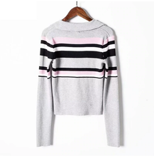 "Load image into Gallery viewer, ""LICORICE"" CROPPED LONG SLEEVE"