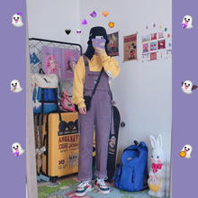 "Load image into Gallery viewer, ""PURPLE CREATURE"" OVERALLS"