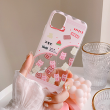 "Load image into Gallery viewer, ""STRAWBERRY FRIENDS"" IPHONE CASE"