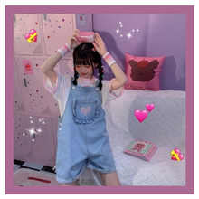 "Load image into Gallery viewer, ""POCKET OF LOVE"" OVERALLS (2 COLORS)"