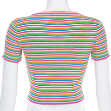 "Load image into Gallery viewer, ""CANDY BABE"" CROP TOP"