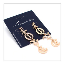 "Load image into Gallery viewer, ""LOVE"" GOTHIC EARRINGS (2 COLORS)"