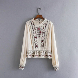 """MOTHER'S FLOWERS"" BLOUSE"