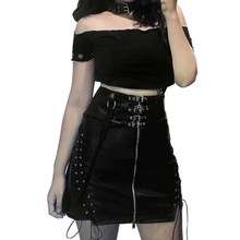 "Load image into Gallery viewer, ""LUNA"" LACE UP SKIRT"