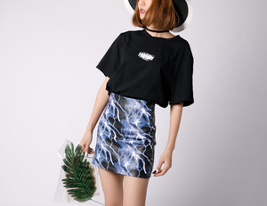 """BLUE LIGHTNING"" SKIRT"