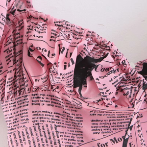 """NEWSPAPER BABE"" DRESS"