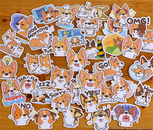 "Load image into Gallery viewer, ""CARTOON CORGIS"" STICKERS"