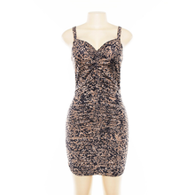 "Load image into Gallery viewer, ""MIDNIGHT LEOPARD"" DRESS"