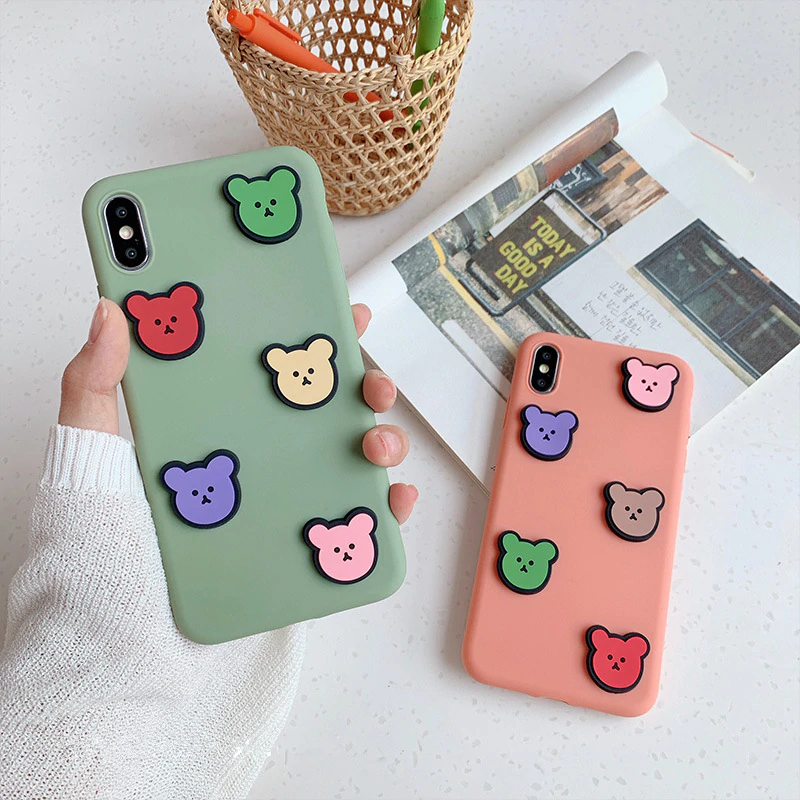 3D BEAR SQUAD IPHONE CASE (2 COLORS)