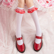 "Load image into Gallery viewer, ""STRAWBERRY PRINCESS"" SOCKS (2 COLORS)"