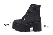 "Load image into Gallery viewer, ""GWEN"" ANKLE PLATFORM BOOTS (2 COLORS)"