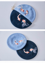 "Load image into Gallery viewer, ""ANGEL GOLDFISH"" BERET (2 COLORS)"