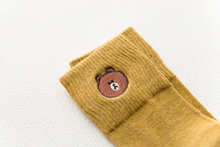 "Load image into Gallery viewer, ""BROWN BEAR"" SOCKS (6 COLORS)"