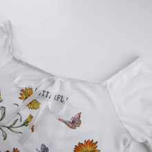 "Load image into Gallery viewer, ""BUTTERFLY CHILD"" CROP TOP"