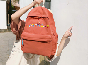 """LOVE WORLD"" BACKPACK (5 COLORS)"
